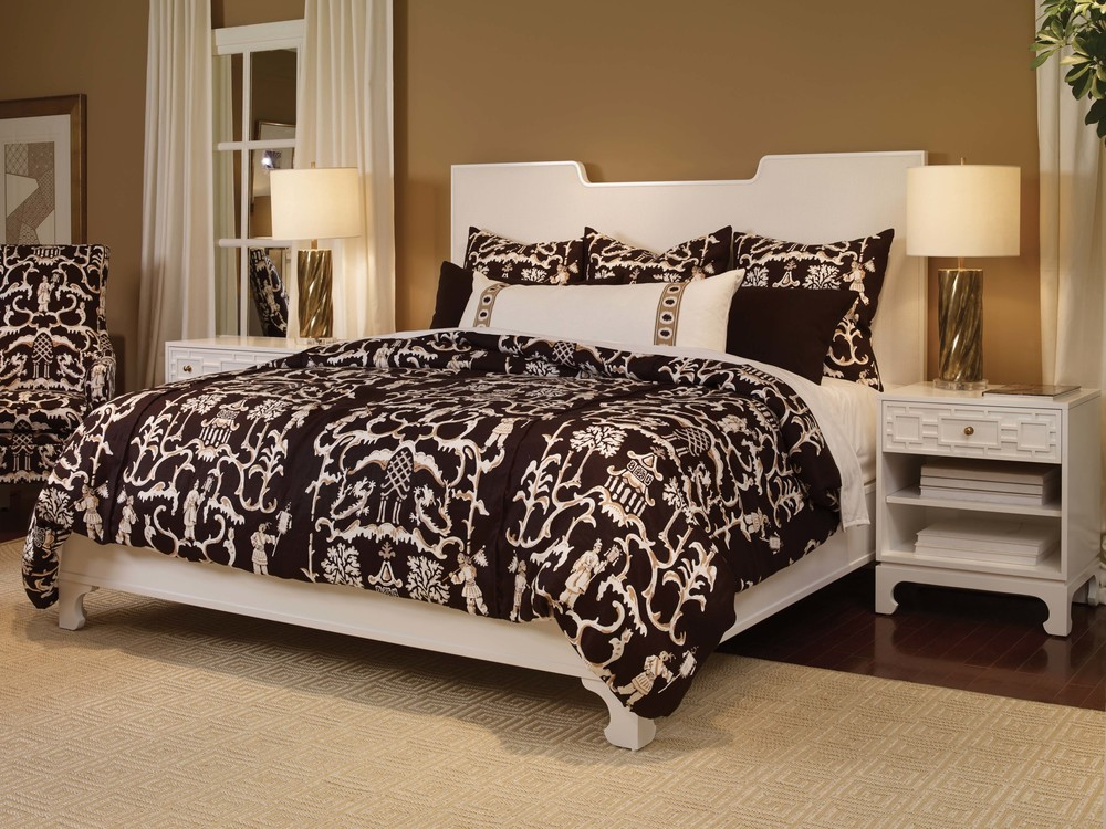 Century Furniture - Del Mar Wood Trim Upholstered Bed