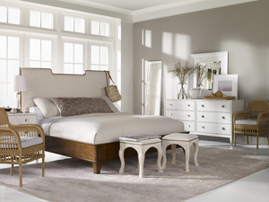 Thumbnail of Century Furniture - Del Mar Wood Trim Upholstered Bed