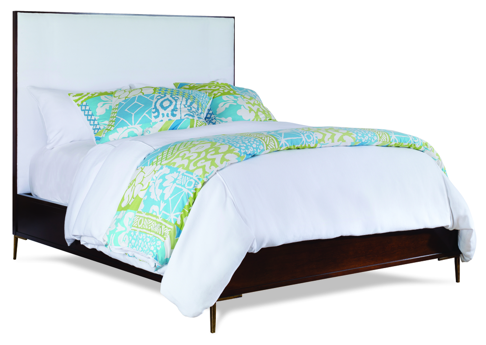 Century Furniture - Marin Wood Trim Upholstered Bed