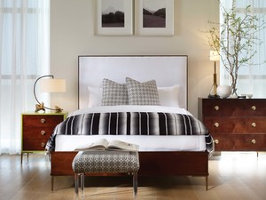 Thumbnail of Century Furniture - Marin Wood Trim Upholstered Bed