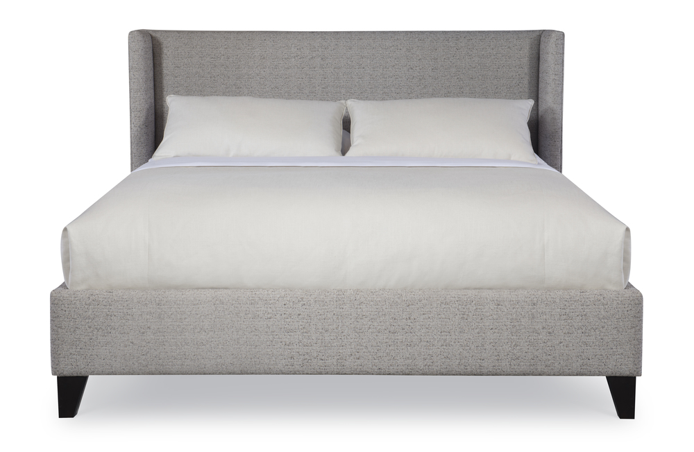 CENTURY FURNITURE - Fully Upholstered Wing Low Headboard Bed