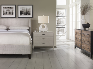 Thumbnail of CENTURY FURNITURE - Fully Upholstered Wing Low Headboard Bed