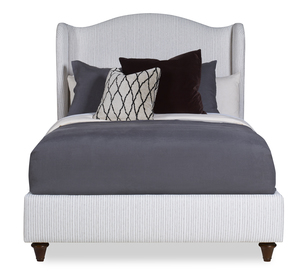 Thumbnail of CENTURY FURNITURE - Fully Upholstered Wing Medium Headboard Bed