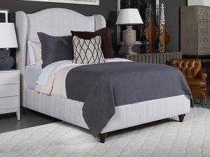 Thumbnail of Century Furniture - Fully Upholstered Wing Bed with Medium Headboard, Queen