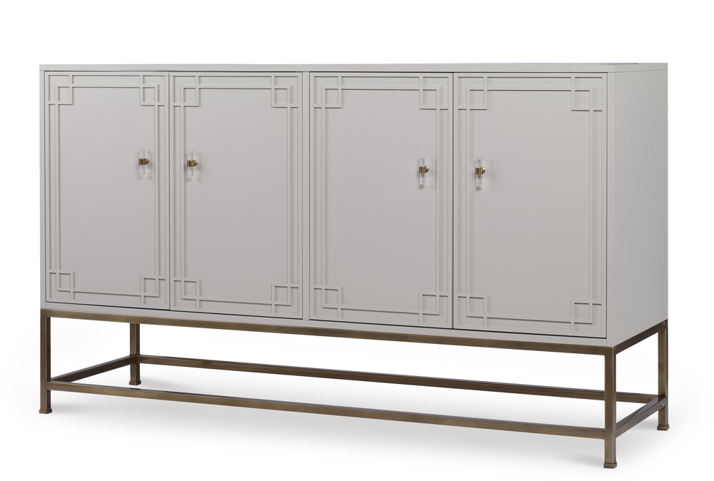 Century Furniture - Four Door Tall Credenza with Tray Drawers