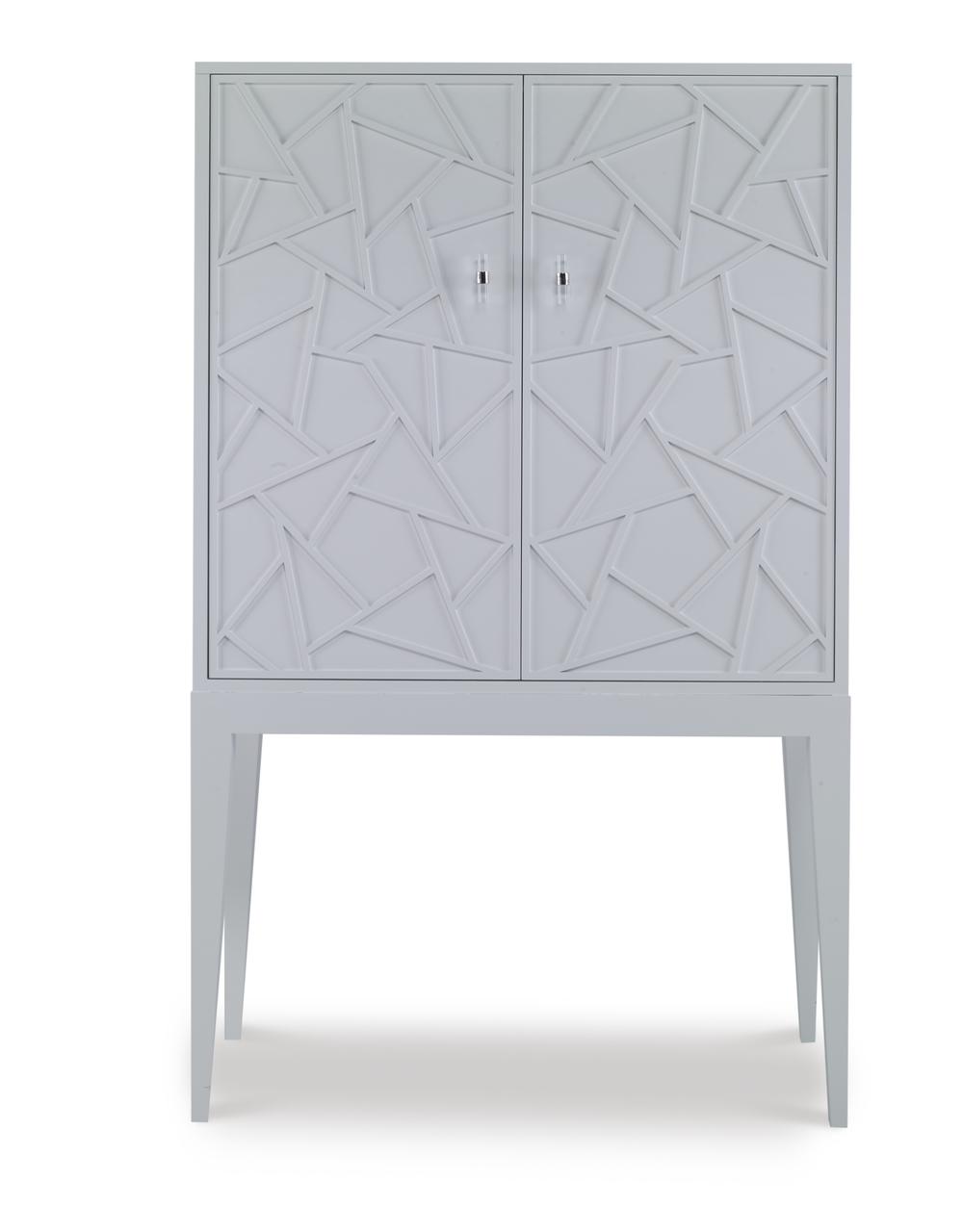 Century Furniture - Bar Cabinet w/ Mirrored Back Panel
