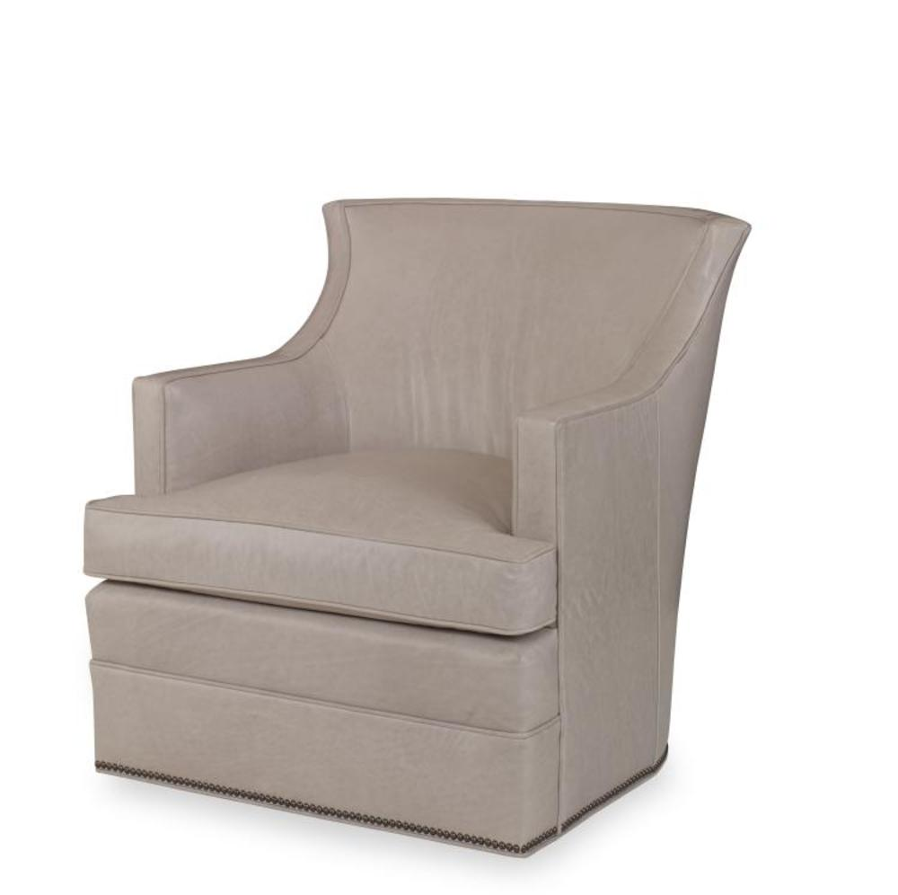 Century Furniture - Cahill Leather Swivel Chair