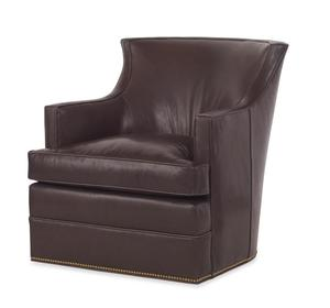 Thumbnail of Century Furniture - Cahill Leather Swivel Chair