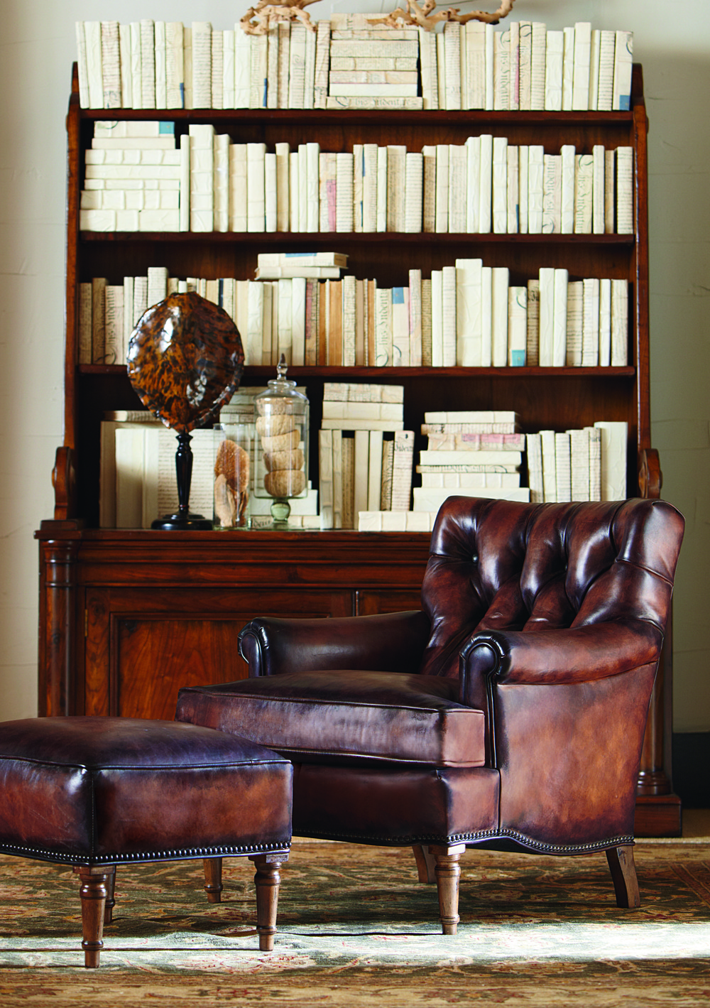 Century Furniture - Salisbury Chair and Ottoman
