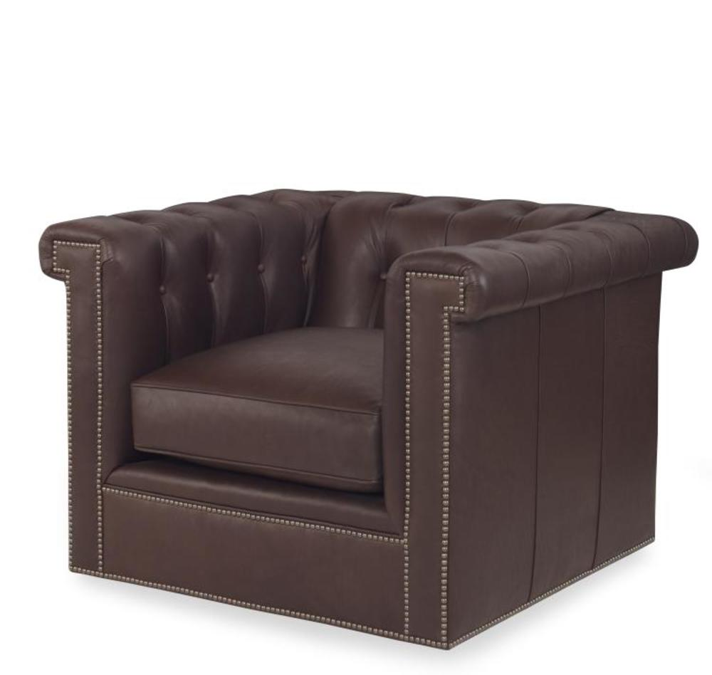 Century Furniture - Modern Chesterfield Swivel Chair