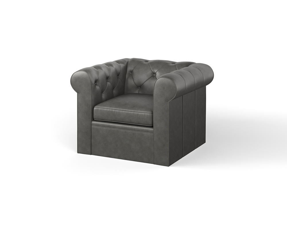 Century Furniture - Classic Chesterfield Swivel Chair