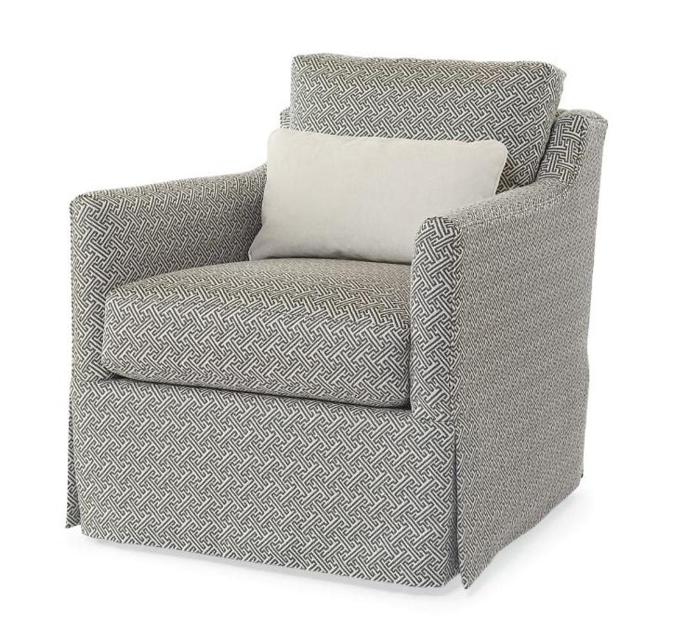 Century Furniture - Allison Skirted Swivel Chair