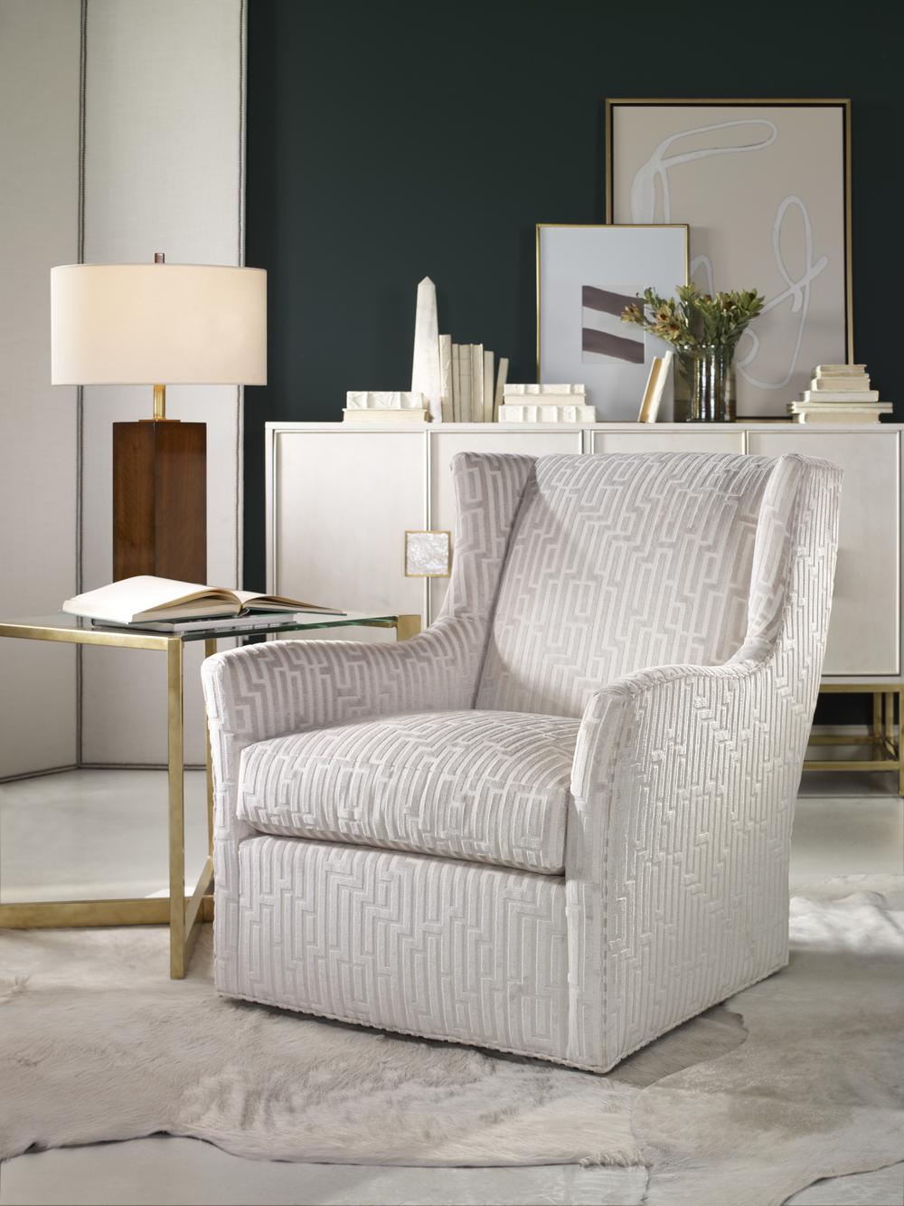 Century Furniture - Defoe Swivel Chair