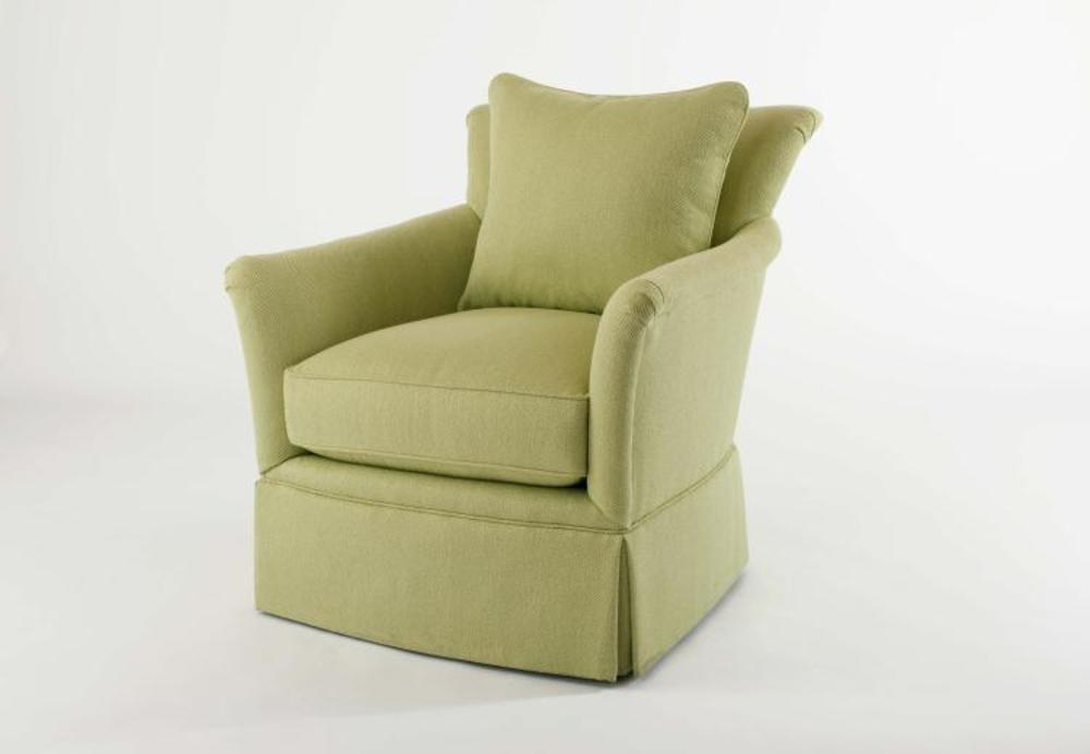 Century Furniture - Pratt Skirted Swivel Chair