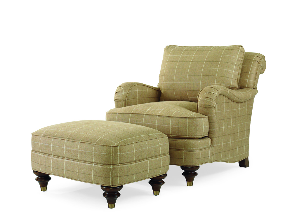 Century Furniture - Kent Chair and Ottoman