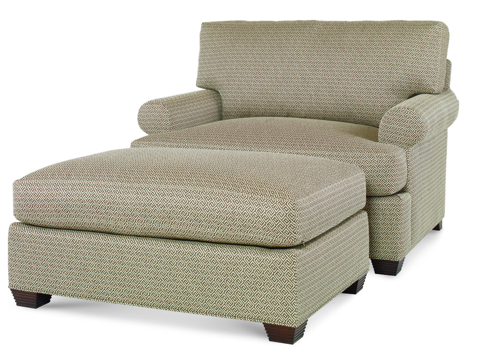 Century Furniture - Cornerstone Chair and Half and Wide Ottoman
