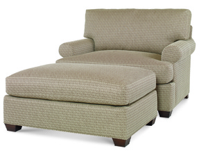 Thumbnail of Century Furniture - Cornerstone Chair and Half and Wide Ottoman