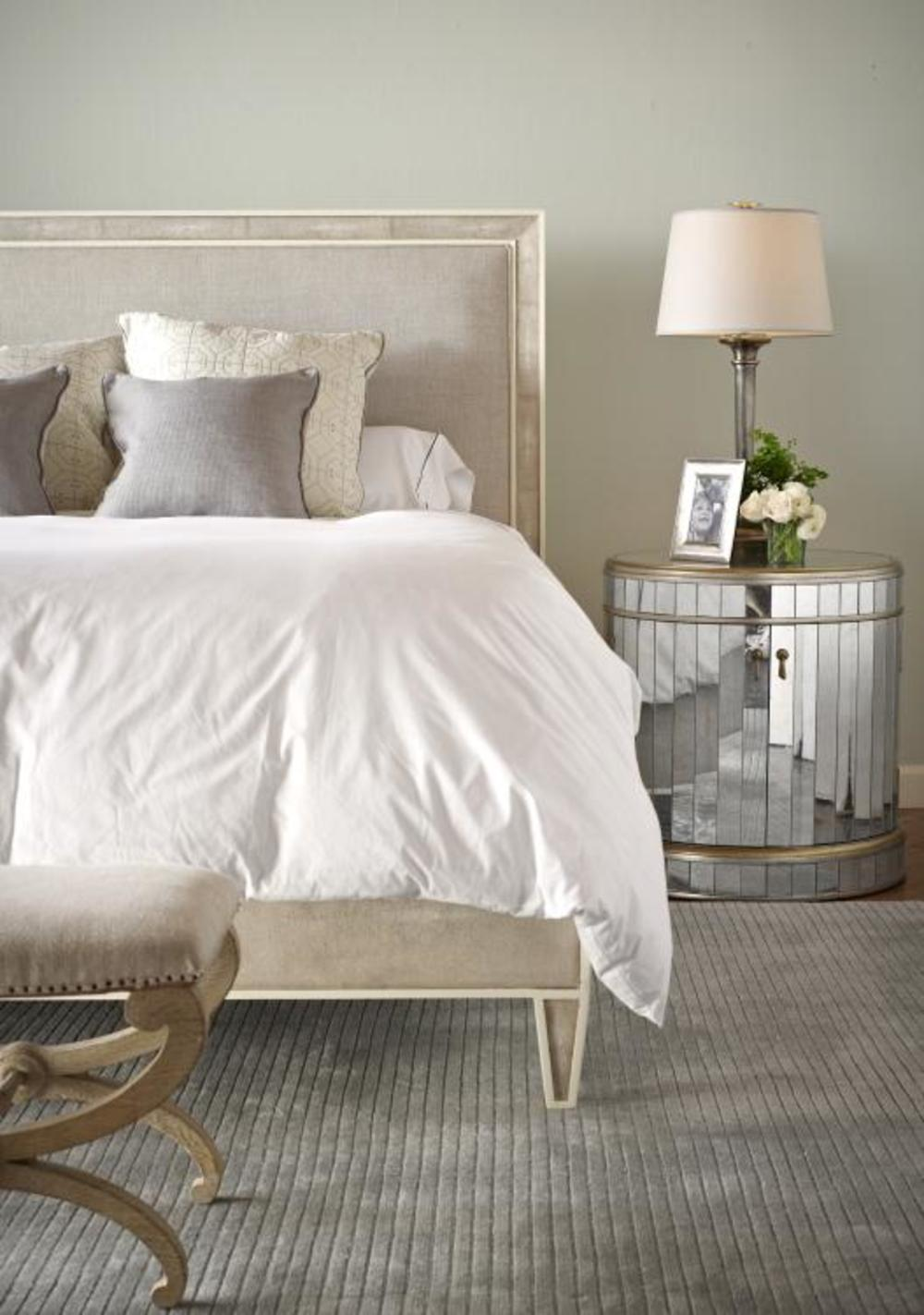 Century Furniture - Taylor Bed with Upholstered Headboard