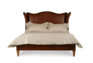Thumbnail of Century Furniture - Hannah Leather Wing Bed, 5/0