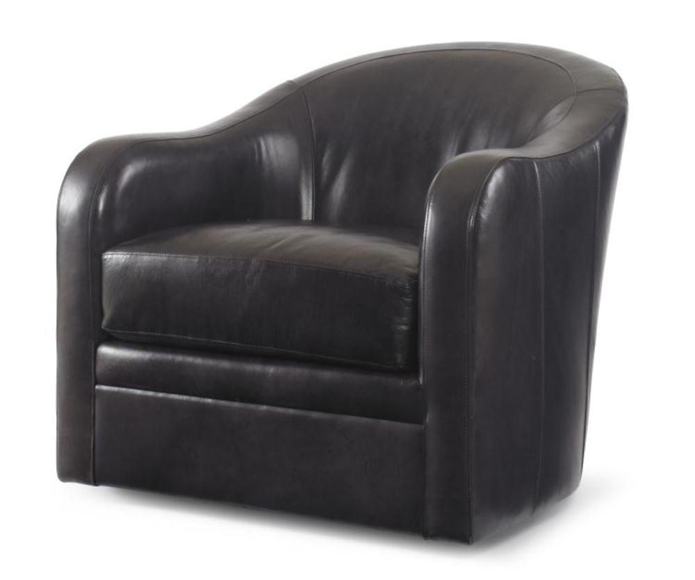 Century Furniture - Leather Swivel Chair