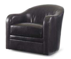Thumbnail of Century Furniture - Leather Swivel Chair