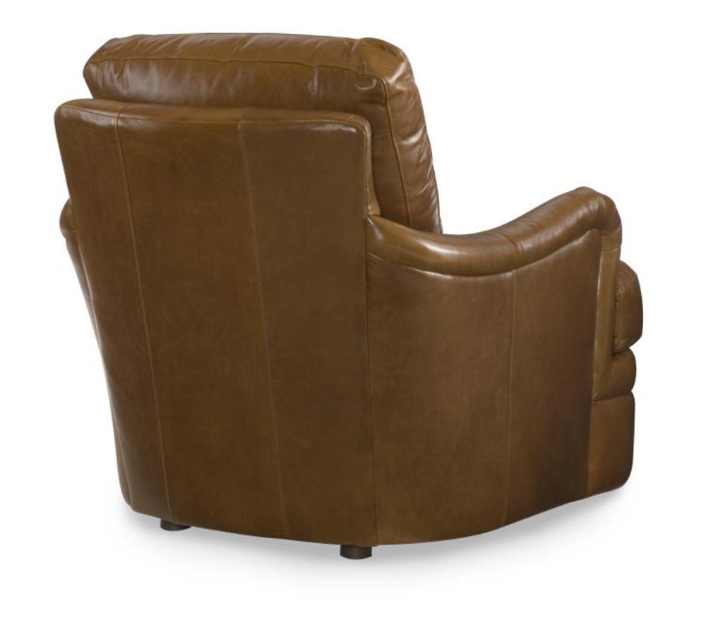 Century Furniture - Leather Chair w/ Ottoman