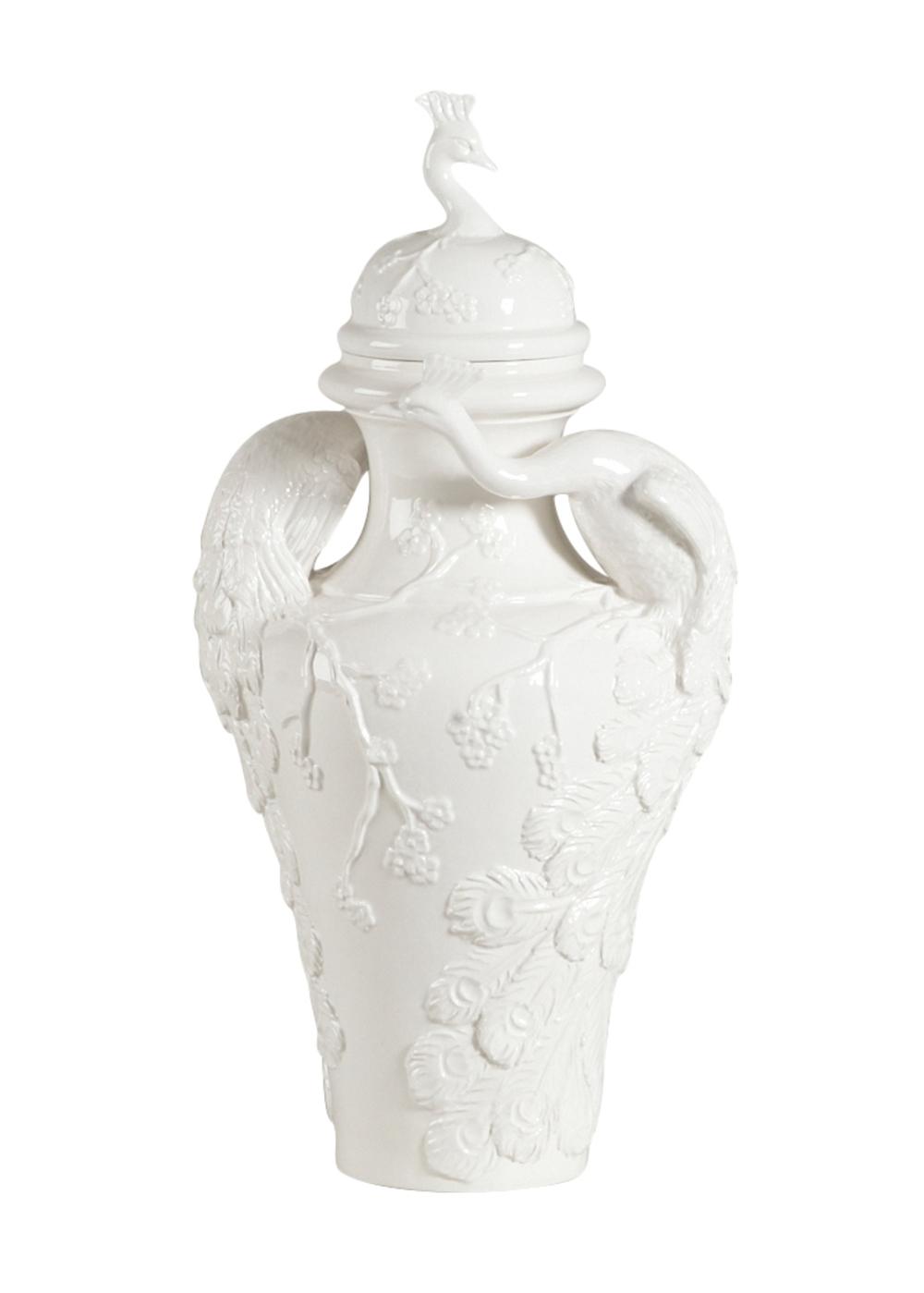Chelsea House - Peacock Ceramic Urn