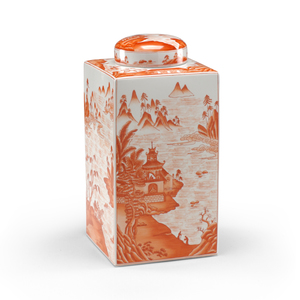 Thumbnail of Chelsea House - Canton Tea Caddy in Pumpkin