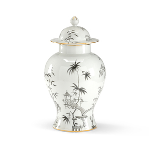 Thumbnail of Chelsea House - Black and White Chinoisserie Jar