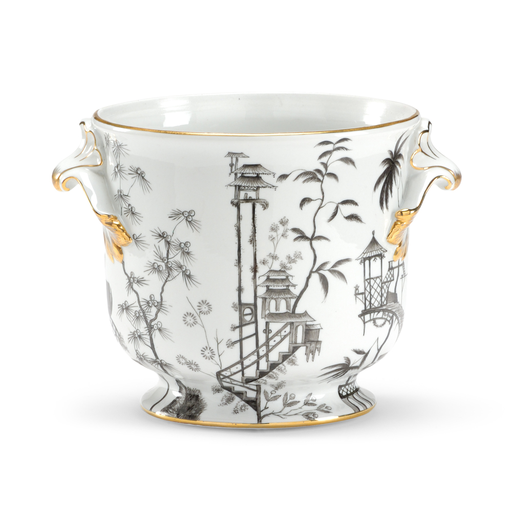 Chelsea House - Black & White Chinoisserie Vase