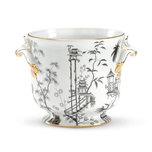 Thumbnail of Chelsea House - Black & White Chinoisserie Vase
