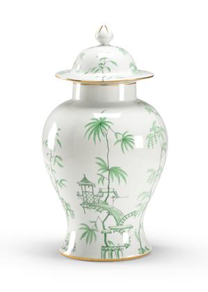 Thumbnail of Chelsea House - Green Chinoiserie Jar