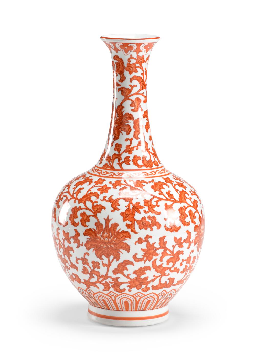 Chelsea House - Pumpkin Long Neck Vase