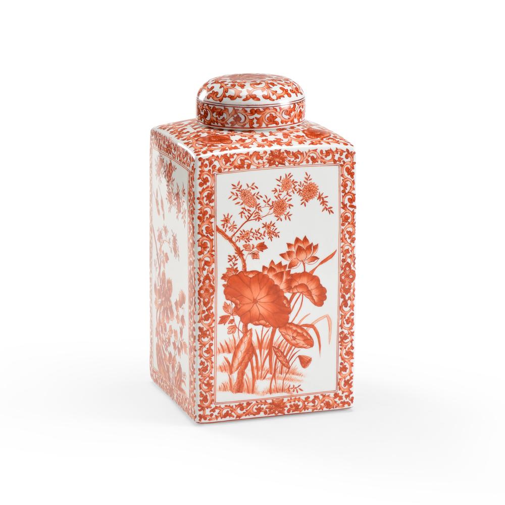 Chelsea House - Lotus Square Vase Red