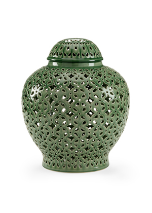 Thumbnail of Chelsea House - Pierced Covered Jar in Green