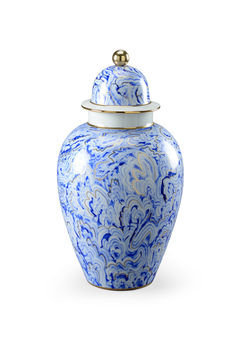 Chelsea House - Marbleized Covered Urn