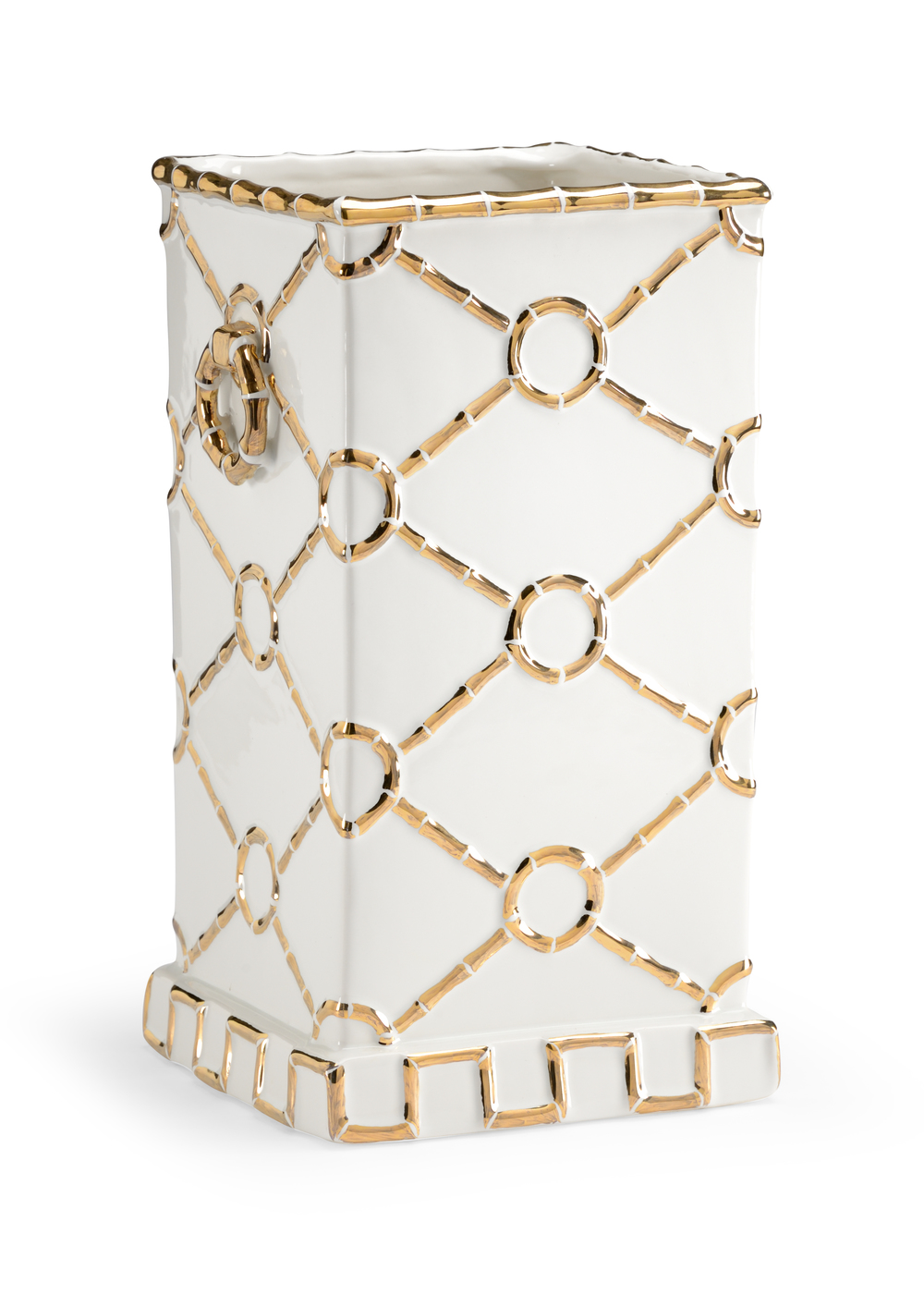 Chelsea House - Square Ring Vase in Gold