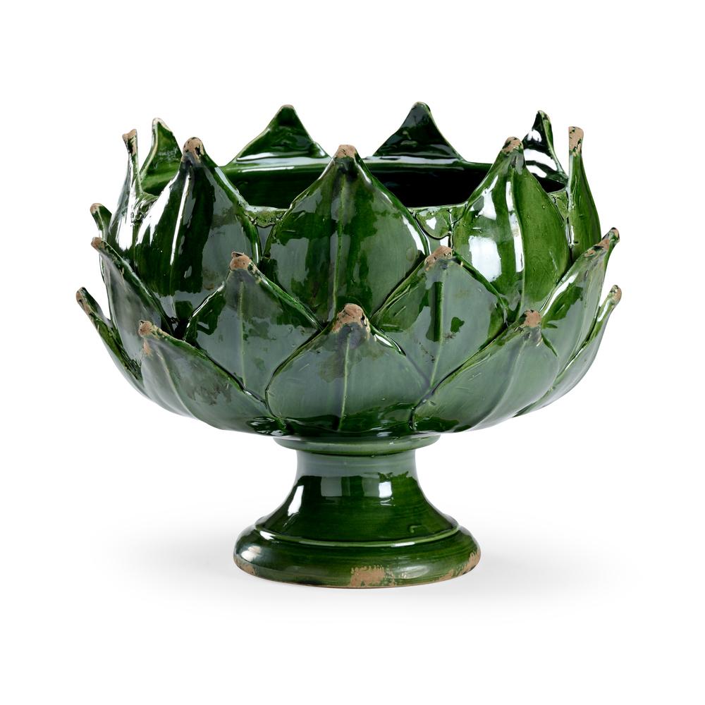 Chelsea House - Green Leaf Vase