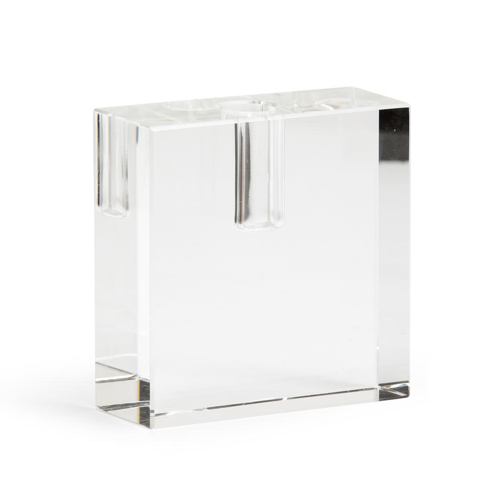 Chelsea House - Rectangular Crystal Candlestick
