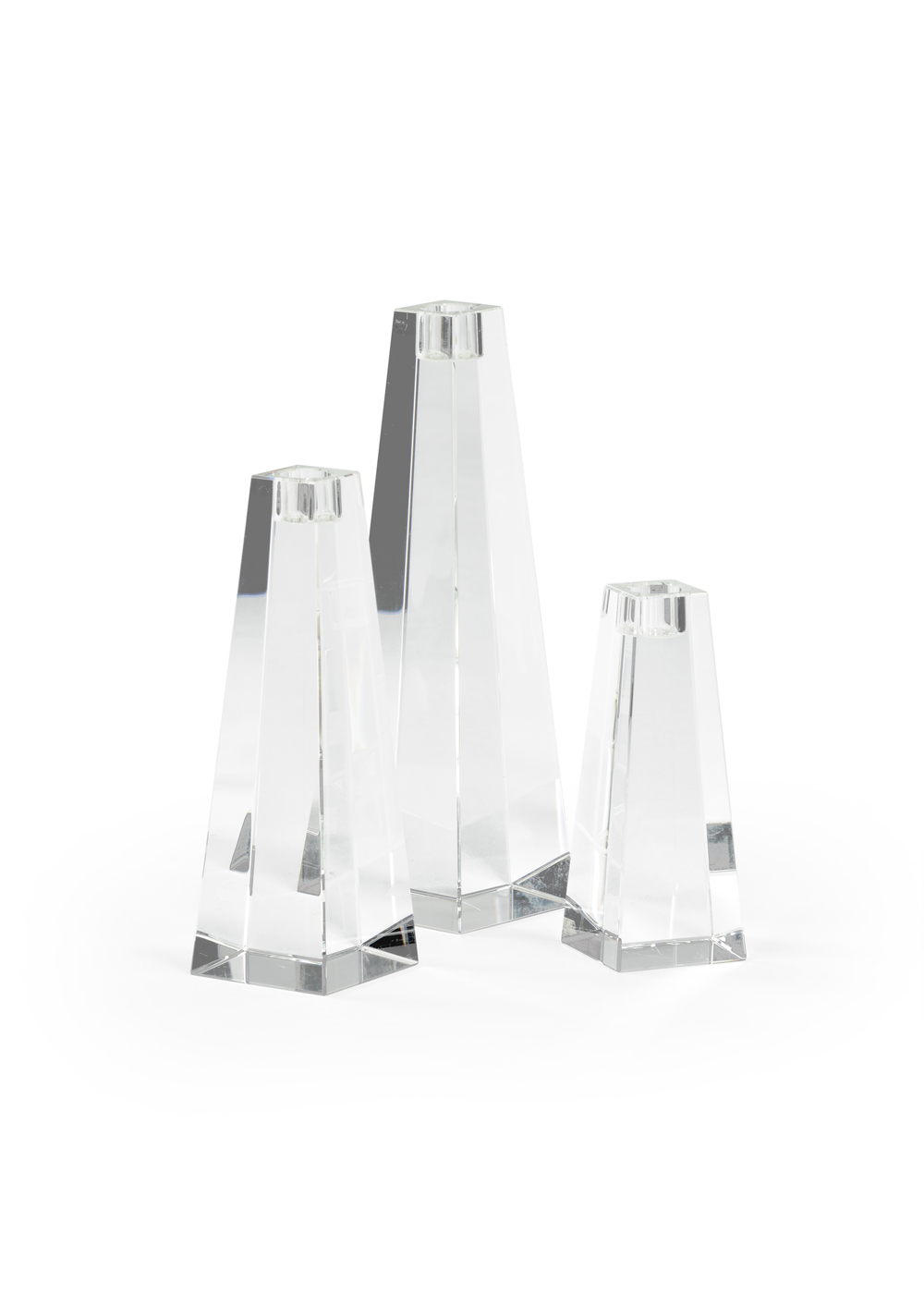 Chelsea House - Pyramid Candlesticks, Set/3