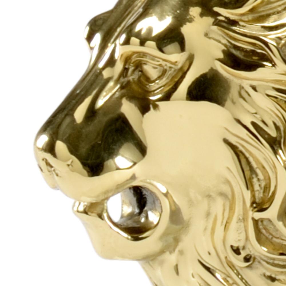 Chelsea House - Lion Head Bookends, Pair