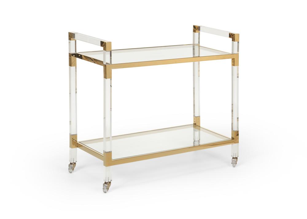 Chelsea House - Acrylic Bar Cart