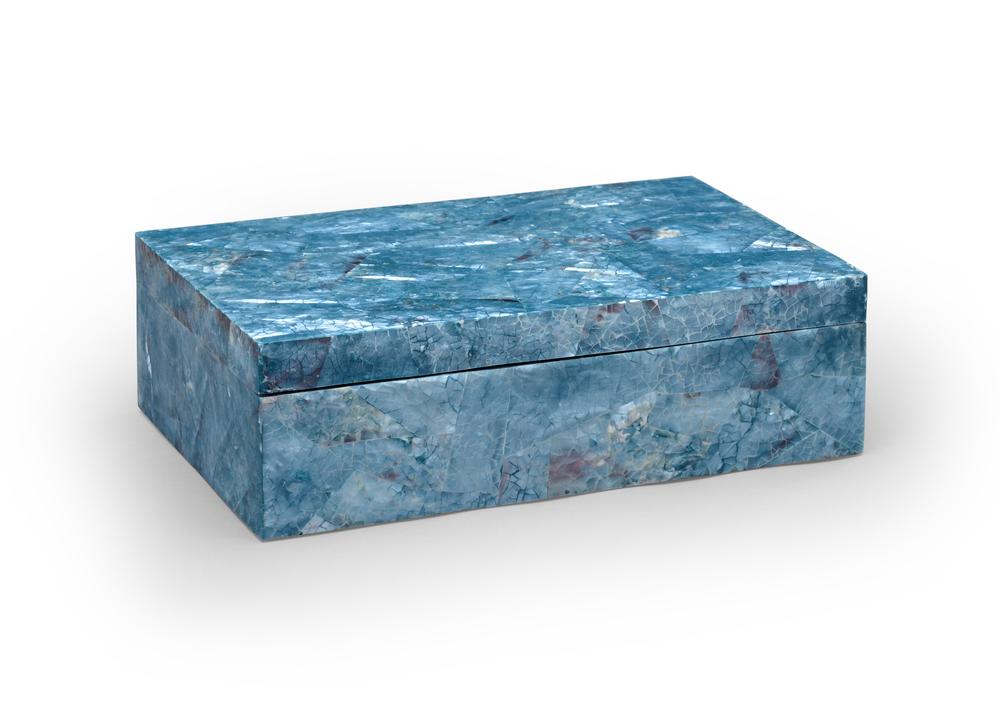 Chelsea House - Blue Hammer Shell Box