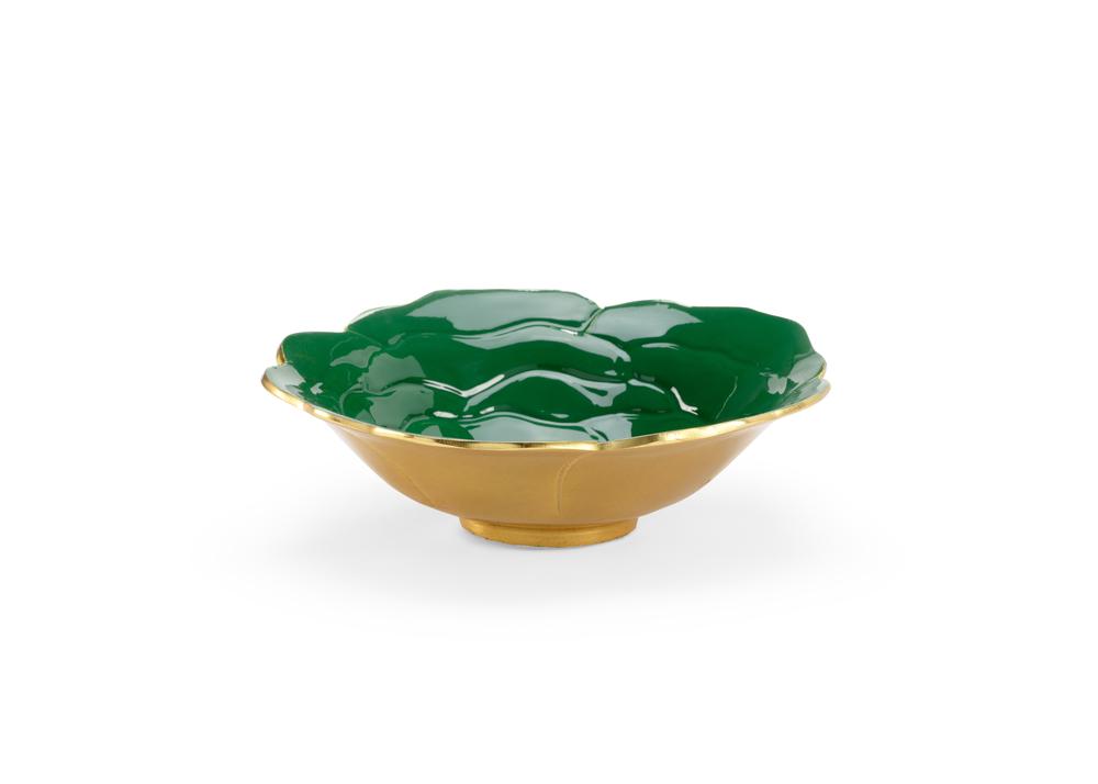 Chelsea House - Green Enameled Bowl