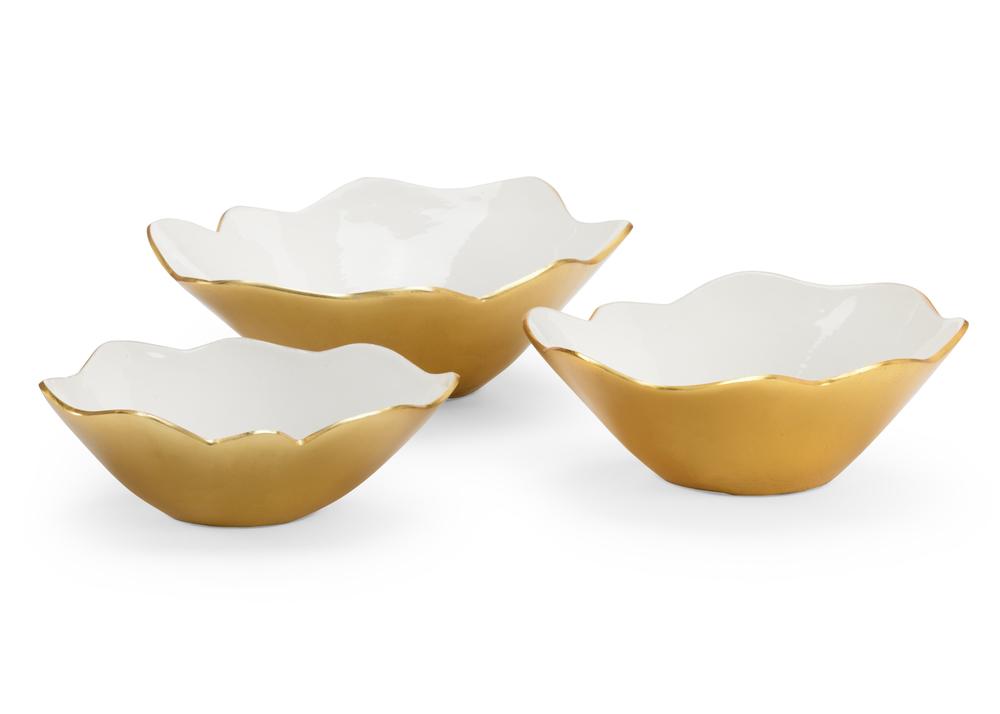 Chelsea House - White Enameled Bowls