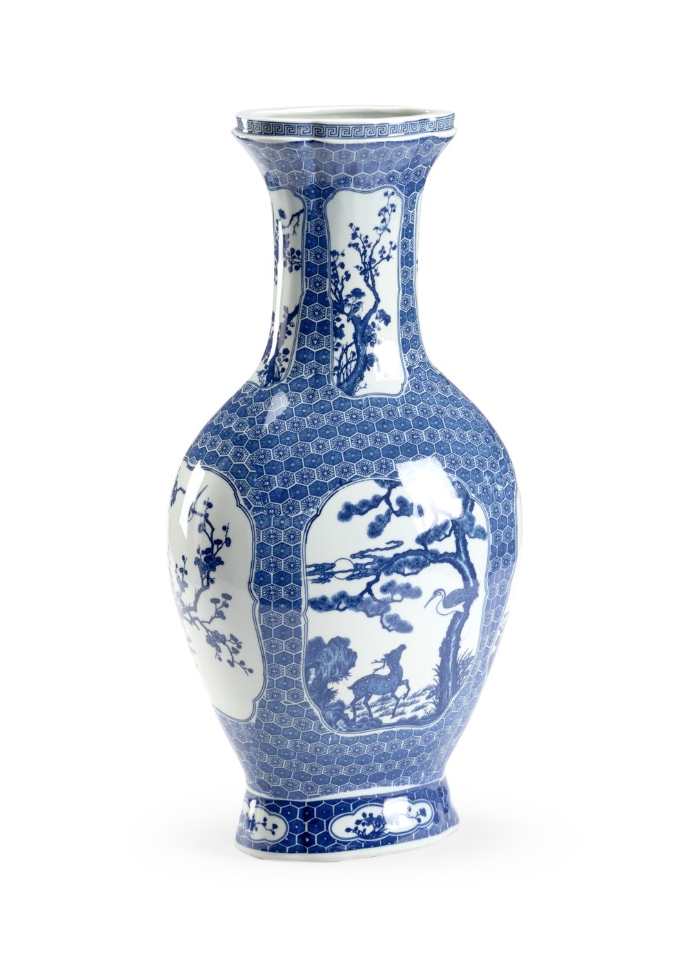 Chelsea House - Blue and White Stag Vase