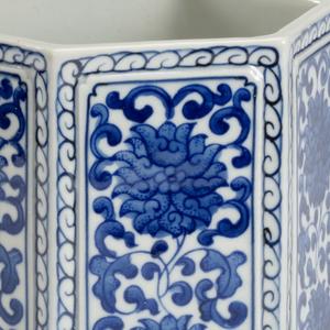 Thumbnail of Chelsea House - Hexagonal Blue and White Vase