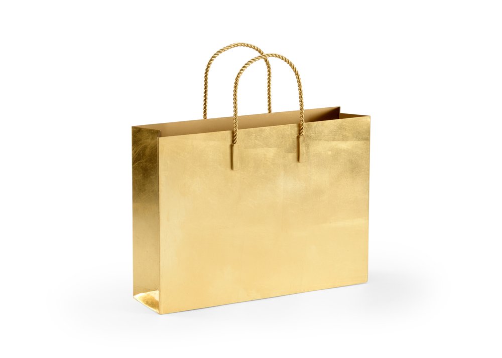 Chelsea House - Gold Chic Tote Magazine Rack
