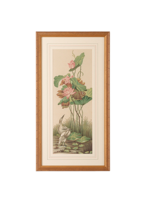 Thumbnail of Chelsea House - Crane and Lotus Panel I Art