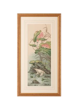 Thumbnail of Chelsea House - Crane and Lotus Panel II Art